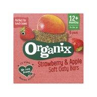Organix - Batoane din cereale, mere, capsuni 6x30g, 12+, eco