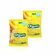 Organix - Pachet de 2 Pungi Rondele din orez expandat, banane 50 g 7+ eco