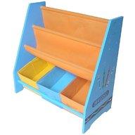 Style - Organizator carti si jucarii cu cadru din lemn Blue Crayon