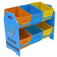 Style - Organizator jucarii cu cadru din lemn Blue Crayon