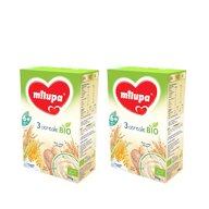 Milupa - Pachet 2 x Cereale BIO fara lapte, 3 Cereale, 250g, 6luni+