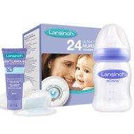 Lansinoh - Pachet Promo Tampoane san x 24buc, Crema pentru mameloane HPA Lanolin 10ml, Biberon 160ml