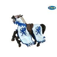Papo - Figurina Calul regelui cu blazon dragon (albastru)