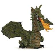 Papo - Figurina Dragon verde inaripat cu flacara