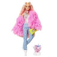 Barbie - Papusa  Fluffy Pinky Cu accesorii, Cu figurina by Mattel Extra Style