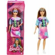 Mattel - Papusa Barbie Fashonista , Cu parul blond, Cu rochita sport