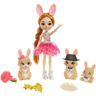Enchantimals - Papusa Brystal Bunny Family Cu accesorii, Cu 3 figurine by Mattel
