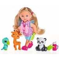Simba - Papusa Evi Love 12 cm Baby Safari cu figurine si accesorii