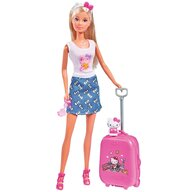Simba - Papusa Steffi Love Travel Cu accesorii, 29 cm Hello Kitty