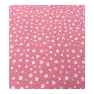 Deseda - Paturica dubla din bumbac Stelute albe pe roz