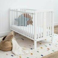 Woodies Safe Dreams - Patut din lemn + saltea Star Baby Cocos-Spuma-Cocos, 120x60 cm, Alb