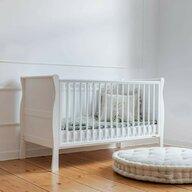 Woodies Safe Dreams - Patut transformabil + saltea Pentru bebe si junior, Cocos-Spuma, 140x70 cm, Alb