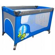 R-Sport - Patut pliant cu un nivel K2 din Otel, 120x60 cm, Albastru