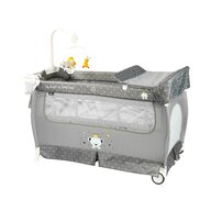 Lorelli - Patut pliabil Sleep n Dream 2 nivele Grey Bear