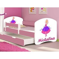 MyKids - Patut tineret Ballerina cu sertar si saltea 160x80