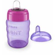 Philips Avent - Canuta cu tetina de formare , 9 luni+, 260 ml, Violet