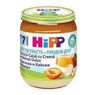HiPP - Piure Fruit-Duet piersica, caisa si crema de branza, 160 gr