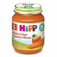 HiPP - Piure de mere si morcovi, 125 gr