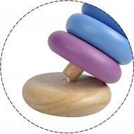 Plan Toys - Turnulet pentru stivuit cu inele colorate