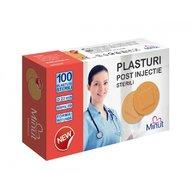 Minut - Plasturi post injectie rotunzi 22mm, PVC, 100 buc