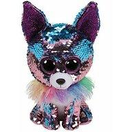 TY - Jucarie din plus Chihuahua Yappy , Boos , 15 cm, Cu paiete