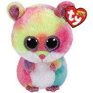 TY - Jucarie din plus Hamsterul Rodney , Boos , 24 cm, Multicolor