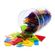 Learning Resources - Poligoane colorate set 450 buc