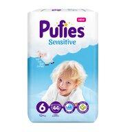 Pufies - Scutece Sensitive, Extra Large (6), 44 buc.