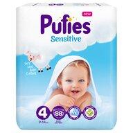 Pufies - Scutece Sensitive, Maxi (4), 88 buc.