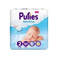 Pufies - Scutece Sensitive, Mini (2), 80 buc.
