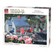 Puzzle 1000 piese Colorful birds