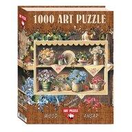 Puzzle 1000 piese, din lemn CUPBOARD GARDEN