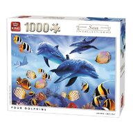 Puzzle 1000 piese Four Dolphins