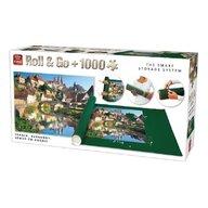 Puzzle 1000 piese+covoras Franta, Burgundy