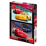 Dino Toys - Puzzle 2 in 1 Cars 3 cursa cea mare 77 piese