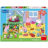 Puzzle personaje Purcelusa Peppa in vacanta , Puzzle Copii , 3 x 55 piese, piese 165