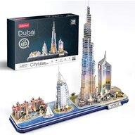 CUBICFUN - Puzzle 3D Dubai cu Led Puzzle Copii, piese 182