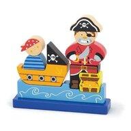 New Classic Toys - Puzzle 3D magnetic, Pirat