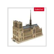 CUBICFUN - Puzzle 3D Notre Dame Nivel complex Puzzle Copii, piese 293