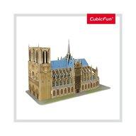 CUBICFUN - Puzzle 3D Notre Dame Nivel mediu Puzzle Copii, piese 53