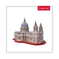 CUBICFUN - Puzzle 3D Catedrala St. Paul Cu brosura Puzzle Copii, piese 107