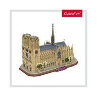 CUBICFUN - Puzzle 3D Notre Dame Paris Cu brosura Puzzle Copii, piese 128