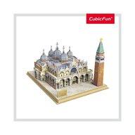 CUBICFUN - Puzzle 3D Piata San Marco Cu brosura Puzzle Copii, piese 107