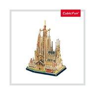 CUBICFUN - Puzzle 3D Sagrada Familia Cu brosura Puzzle Copii, piese 184