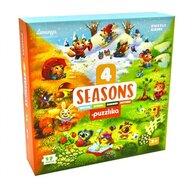 Cubika - Puzzle educativ Anotimpurile Puzzle Copii, pcs  17