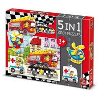 Puzzle 5 in 1, Cars