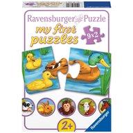 Ravensburger - Puzzle Animale adorabile, 9x2 piese