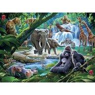 Ravensburger - Puzzle animale Din jungla Puzzle Copii, piese 100