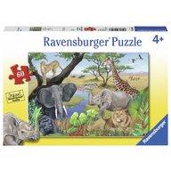 Ravensburger - Puzzle Animale Safari, 60 piese