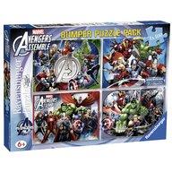 Ravensburger - Puzzle Avengers, 4x100 piese